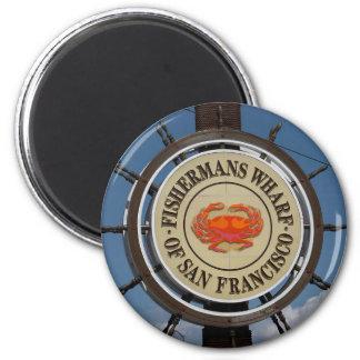 San Francisco Warf 6 Cm Round Magnet