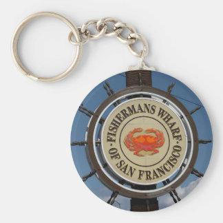 San Francisco Warf Basic Round Button Key Ring