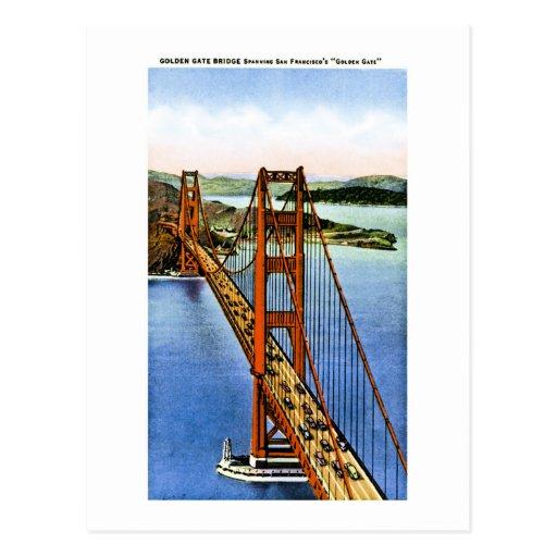 San Francisco's  Golden Gate Bridge Post Card