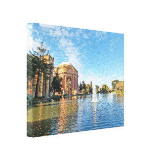 San Fransisco Palace of Fine Arts Canvas Print