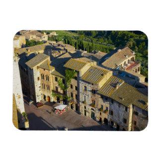 San Gimignano Old Town, Siena, Tuscany, Italy 2 Rectangular Photo Magnet