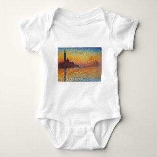San Giorgio Maggiore at Dusk - Claude Monet Baby Bodysuit