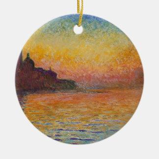 San Giorgio Maggiore at Dusk - Claude Monet Ceramic Ornament