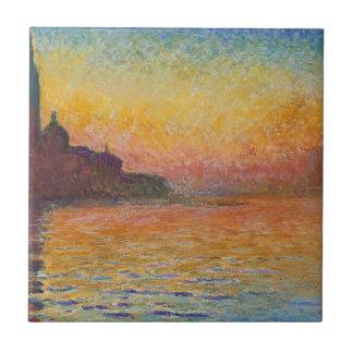 San Giorgio Maggiore at Dusk - Claude Monet Ceramic Tile