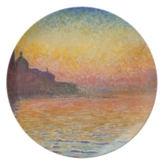 San Giorgio Maggiore at Dusk - Claude Monet Dinner Plate