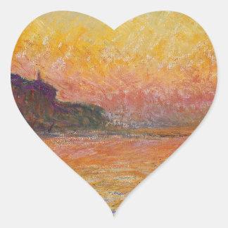 San Giorgio Maggiore at Dusk - Claude Monet Heart Sticker