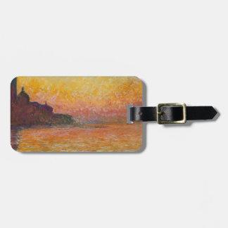 San Giorgio Maggiore at Dusk - Claude Monet Luggage Tag