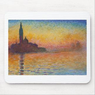 San Giorgio Maggiore at Dusk - Claude Monet Mouse Pad