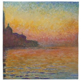 San Giorgio Maggiore at Dusk - Claude Monet Napkin
