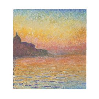 San Giorgio Maggiore at Dusk - Claude Monet Notepad