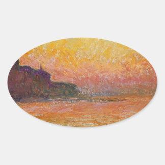 San Giorgio Maggiore at Dusk - Claude Monet Oval Sticker
