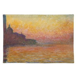San Giorgio Maggiore at Dusk - Claude Monet Placemat