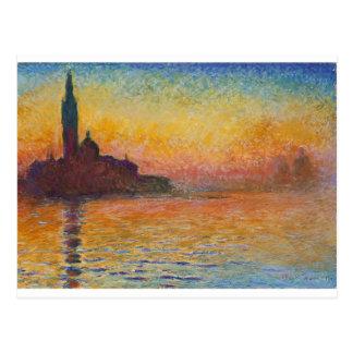 San Giorgio Maggiore at Dusk - Claude Monet Postcard