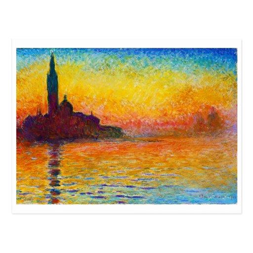 San Giorgio Maggiore at Dusk  Claude Monet Postcard