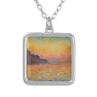 San Giorgio Maggiore at Dusk - Claude Monet Silver Plated Necklace