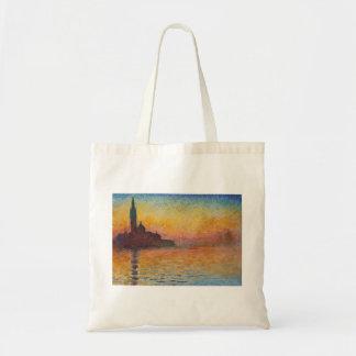 San Giorgio Maggiore at Dusk - Claude Monet Tote Bag