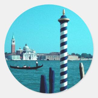 San Giorgio Maggiore Lagoon Poles.jpg Classic Round Sticker