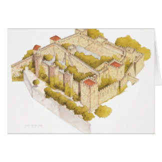 San Jorge castle. Lisboa Portugal Card