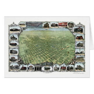 San Jose, CA Panoramic Map - 1901 Card