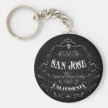 San Jose, California - Capital of Silicon Valley Key Chain