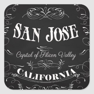 San Jose, California - Capital of Silicon Valley Square Sticker