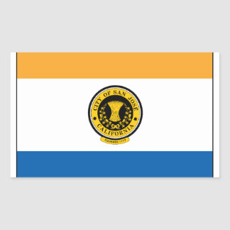 San Jose California Rectangular Sticker