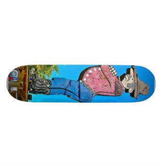 San jose California USA wooden cowboy landmark Custom Skateboard