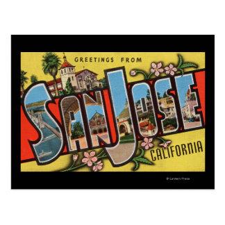 San Jose, CaliforniaLarge Letter Scenes Postcard