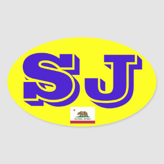 San Jose  Euro Oval Sticker