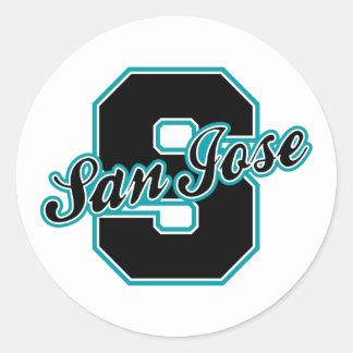 San Jose Letter Round Sticker
