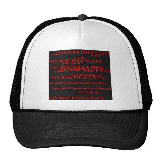 san jose police mesh hat