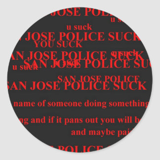 san jose police round sticker