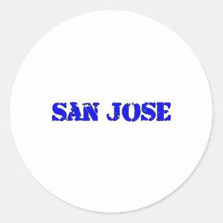 San Jose Round Sticker