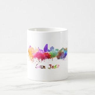 San Jose skyline in watercolor Coffee Mug