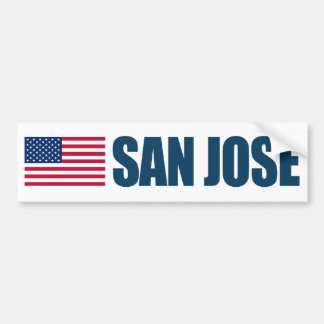 San Jose US Flag Bumper Sticker