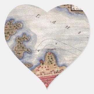 San Juan 1770 Heart Sticker