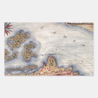 San Juan 1770 Rectangular Sticker