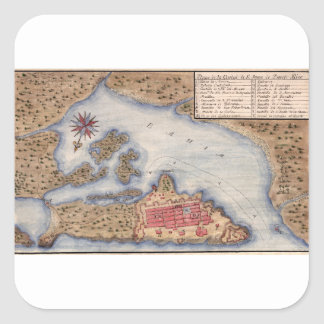 San Juan 1770 Square Sticker