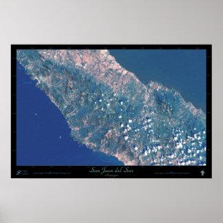 San Juan del Sur, Nicaragua satellite poster
