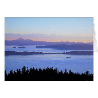 San Juan Islands Chuckanut Mt WA Greeting Card