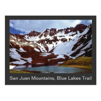 San Juan Mountains, Blue Lakes Trail Postcard