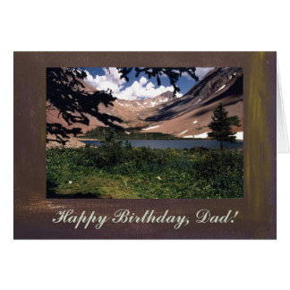 San Juan Mountains Template Happy Birthday, Dad Greeting Card
