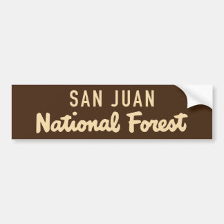 San Juan National Forest Bumper Sticker