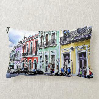 San Juan Puerto Rico Colorful Buildings Pillow