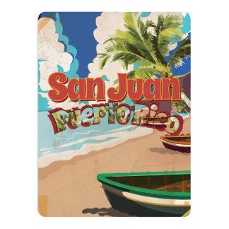 San Juan Puerto Rico Vintage Travel Poster Invite