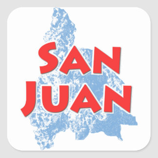 San Juan Square Sticker