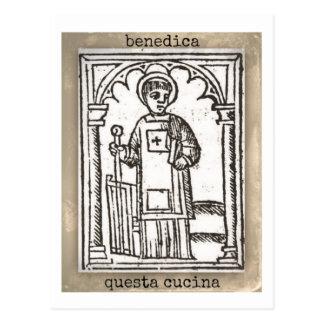 San Lorenzo, Bless this Kitchen Postcard