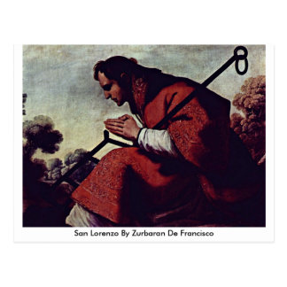 San Lorenzo By Zurbaran De Francisco Postcard