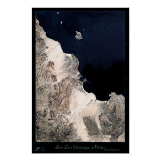 San Luis Gonzaga, Baja California satellite poster