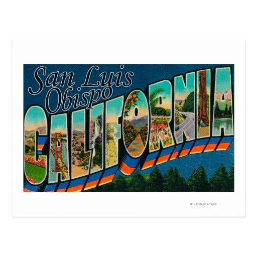 San Luis Obispo, California - Large Letter Scene Post Card